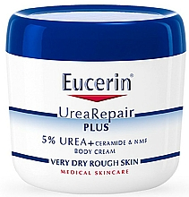 Düfte, Parfümerie und Kosmetik Feuchtigkeitsspendende Körpercreme mit 5% Harnstoff und Ceramiden für sehr trockene und raue Haut - Eucerin UreaRepair Plus Body Cream 5%