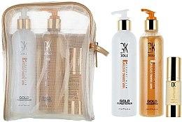 Düfte, Parfümerie und Kosmetik Haarpflegeset - GKhair Gold Kit (Shampoo 250ml + Conditioner 250ml + Haarserum 30ml)