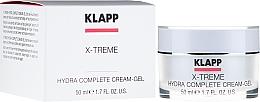Düfte, Parfümerie und Kosmetik Feuchtigkeitsspendende Gesichtscreme mit Hyaluronsäure - Klapp X-treme Hydra Complete