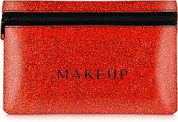 Düfte, Parfümerie und Kosmetik Kosmetiktasche Glitter Pouch rot 18x11 cm - MakeUp