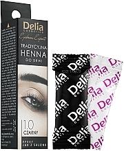Düfte, Parfümerie und Kosmetik Henna für Augenbrauen schwarz - Delia Brow Dye Henna Traditional Black