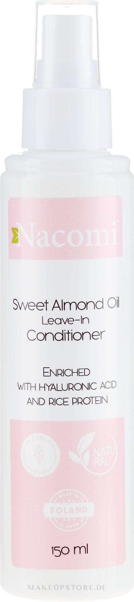 Conditioner mit Mandelöl und Hyaluronsäure ohne Ausspülen - Nacomi No-Rinse With Sweet Almond & Hyaluronic Acid Conditioner — Bild 150 ml