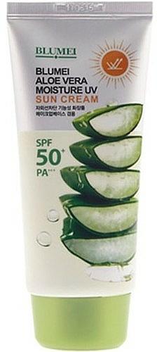 Feuchtigkeitsspendende Gesichtscreme mit Aloe Vera - Blumei Jeju Moisture Aloe Vera Sun Cream