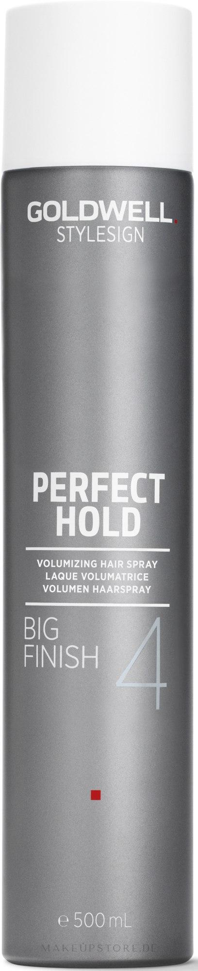 Volumen Haarspray Haltegrad 4 - Goldwell Style Sign Perfect Hold Big Finish Volumizing Hairspray — Bild 500 ml