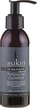 Gesichtsreinigungsgel - Sukin Oil Balancing + Charcoal Gel Cleanser — Bild N1