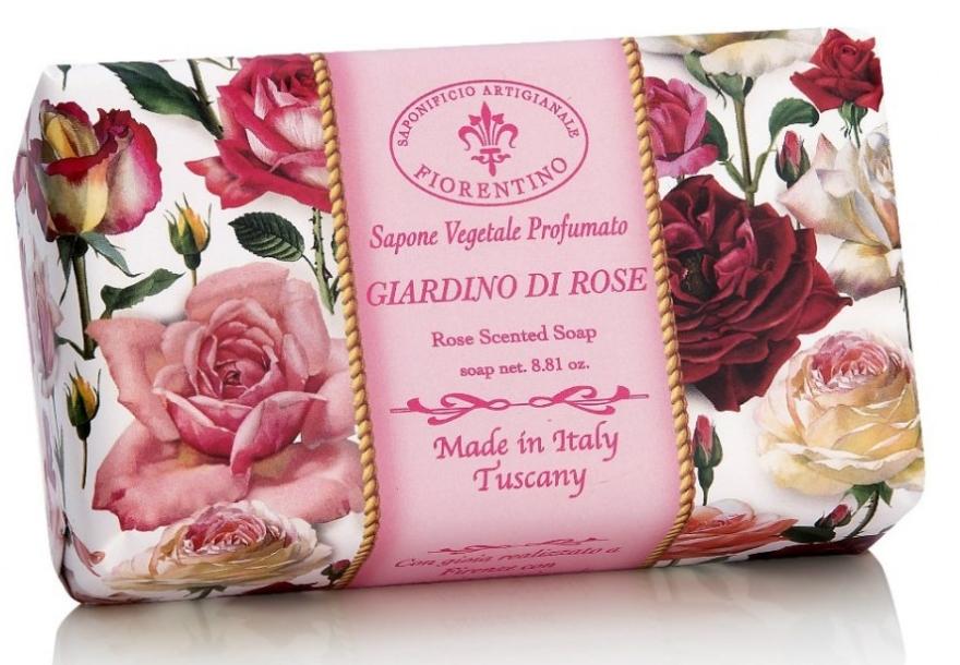 Naturseife Rose - Saponificio Artigianale Fiorentino Rose Garden Scented Soap Armonia Collection — Bild N1
