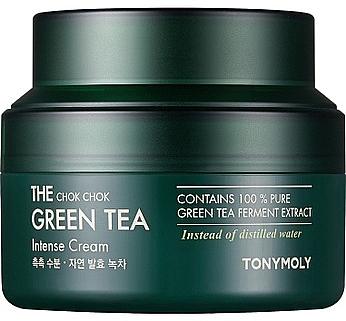 Intensive Feuchtigkeitscreme für das Gesicht mit Grüntee-Extrakt - Tony Moly The Chok Chok Green Tea Intense Cream — Bild N1