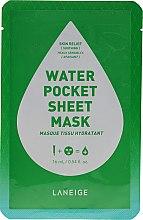 Düfte, Parfümerie und Kosmetik Beruhigende und feuchtigkeitsspendende Tuchmaske für das Gesicht - Laneige Water Pocket Sheet Mask Skin Relief