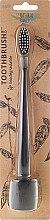 Zahnbürste mit Ständer weich schwarz - The Natural Family Co Bio Brush & Stand Pirate Black — Bild N1