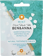 Düfte, Parfümerie und Kosmetik Zahnpasta in Tabletten mit Fluorid mit Minzgeschmack - Ben&Anna Mint Toothpaste Tablets With Fluoride