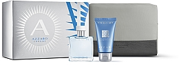 Düfte, Parfümerie und Kosmetik Duftset - Azzaro Chrome (Eau de Toilette 30ml + Shampoo 50ml + Kosmetiktasche)