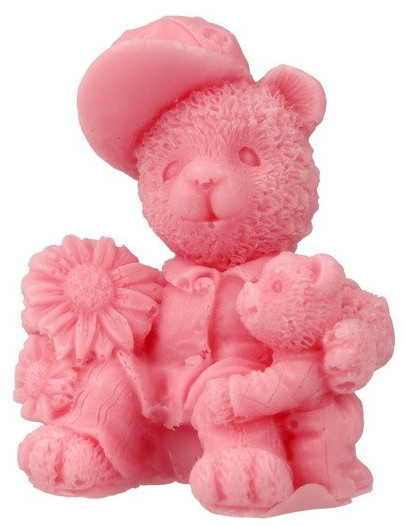 Handgemachte Naturseife Zwei Teddybären mit Kirschduft - LaQ Happy Soaps