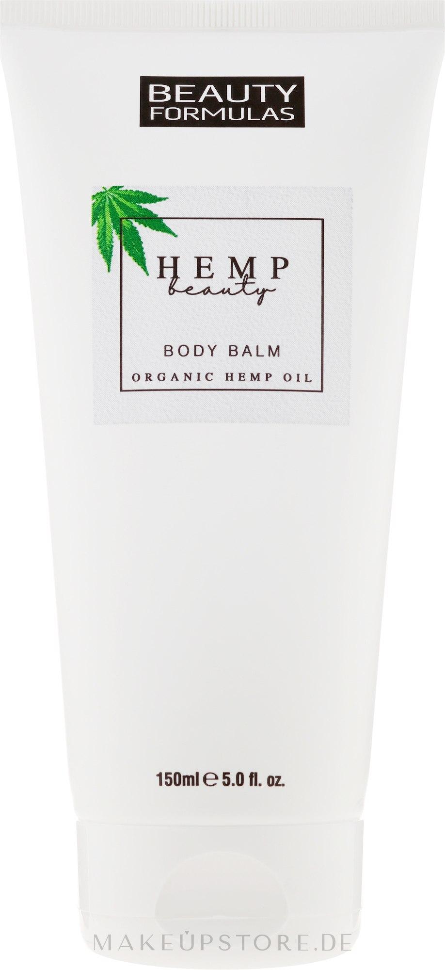 Körperlotion mit Bio Hanföl - Beauty Formulas Hemp Beauty Body Balm — Bild 150 ml