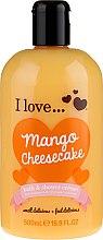Düfte, Parfümerie und Kosmetik Bade- und Duschcreme mit Aroma von Mango-Käsekuchen - I Love... Mango Cheesecake Bath And Shower Cream