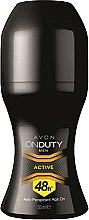 Düfte, Parfümerie und Kosmetik Deo Roll-on Antitranspirant - Avon On Duty Men Active Antiperspirant Roll-On