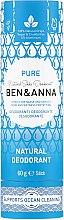 Düfte, Parfümerie und Kosmetik Natürlicher Soda Deostick Pure - Ben & Anna Pure Natural Soda Deodorant Paper Tube