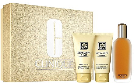 Clinique Aromatics Elixir Riches Set - Duftset (Eau de Parfum/100ml+Duschgel/75ml+Körperlotion75ml) — Bild N1