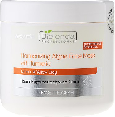 Regenerierende Kurkuma-Gesichtsmaske für strahlende Haut - Bielenda Professional Face Program Harmonizing Algae Face Mask With Turmeric — Bild N2