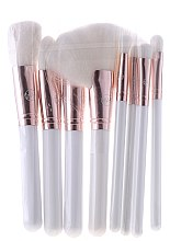 Düfte, Parfümerie und Kosmetik Make-up Pinsel-Set - Contour Cosmetics (Make-up Pinsel weiß 8 St. + Kosmetiktasche weiß)