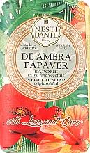 Düfte, Parfümerie und Kosmetik Naturseife De Ambra Papaver - Nesti Dante Vegetable Soap Love and Care Collection
