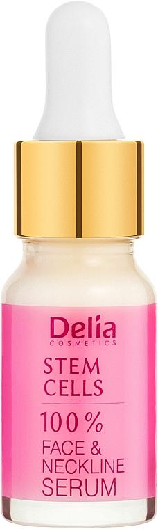 Intensiv verjüngendes Anti-Falten Gesichts- und Halsserum mit Stammzellen - Delia Face Care Stem Sells Face Neckline Intensive Serum