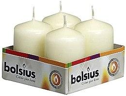 Düfte, Parfümerie und Kosmetik Stumpenkerzen Elfenbein 4 St. - Bolsius Candle 60 x Ø40 mm