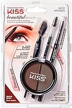 Düfte, Parfümerie und Kosmetik Augenbrauen-Set - Kiss Beautiful Brow Kit