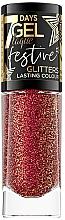 Düfte, Parfümerie und Kosmetik Gel-Nagellack mit glänzenden Partikeln - Eveline Cosmetics 7 Days Gel Laque Festive Glitters