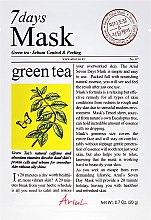 Düfte, Parfümerie und Kosmetik Peelingmaske für das Gesicht mit grünem Tee - Ariul 7 Days Mask Green Tea Sebum Control&Peeling