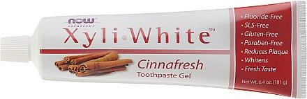 Fluoridfreies Zahnpasta-Gel mit Zimt - Now Foods XyliWhite Toothpaste Gel — Bild N2