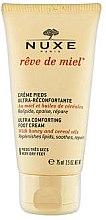 Düfte, Parfümerie und Kosmetik Pflegende Fußcreme mit Honig und Getreideölen - Nuxe Reve de Miel Ultra Comfortable Foot Cream