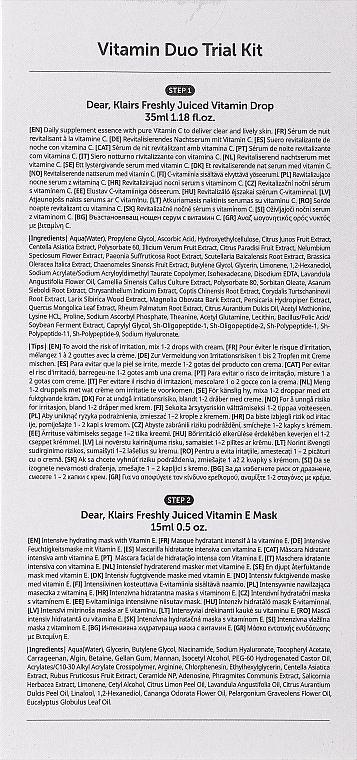 Gesichtspflegeset - Klairs Vitamin Duo (Vitaminkomplex Gesichtsserum 35ml + Gesichtsmaske 15ml) — Bild N4