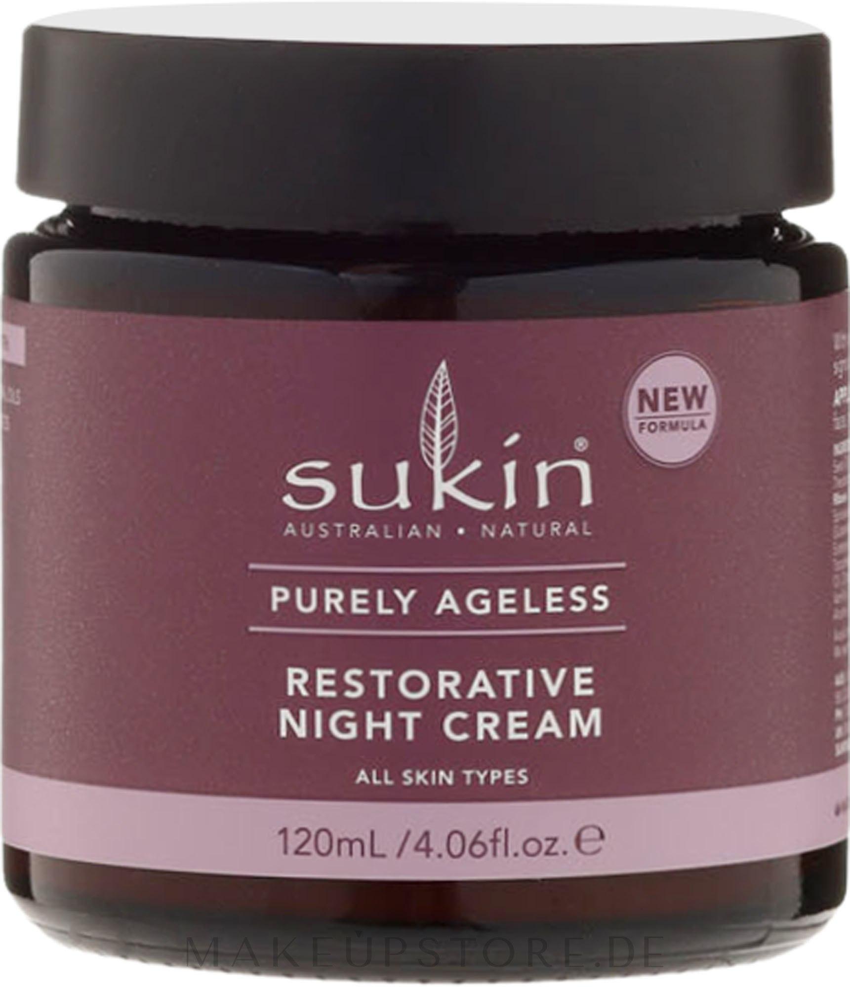Anti-Falten Nachtcreme - Sukin Purely Ageless Night Cream — Bild 120 ml