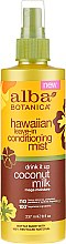Düfte, Parfümerie und Kosmetik Haarspülung-Nebel mit Kokosmilch und Arganöl, ohne Auswaschen - Alba Botanica Hawaiian Leave In Conditioning Mist Coconut Milk
