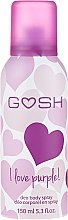 Düfte, Parfümerie und Kosmetik Deospray - Gosh I Love Purple Deo Body Spray