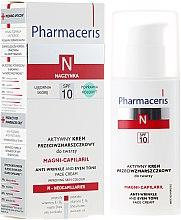 Düfte, Parfümerie und Kosmetik Aktive Anti-Falten ausgleichende Gesichtscreme für Kapillarhaut SPF 10 - Pharmaceris N Magni-Capilaril Active Anti-Wrinkle Cream