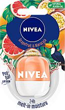 Düfte, Parfümerie und Kosmetik Lippenbalsam mit Grapefruit- und Maracuja-Duft - Nivea Pop-Ball Grapefruit & Maracuja Lip Balm