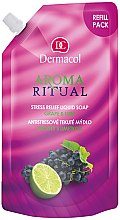 """Düfte, Parfümerie und Kosmetik Flüssige Seife """"Weintrauben und Limette"""" - Dermacol Aroma Ritual Liquid Soap Grape&Lime (Doypack)"""