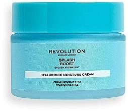 Düfte, Parfümerie und Kosmetik Intensiv feuchtigkeitsspendende Gesichtscreme mit Hyaluronsäure - Revolution Skincare Splash Boost with Hyaluronic Acid