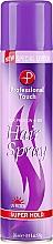 Düfte, Parfümerie und Kosmetik Haarspray mit Seidenprotein Super starker Halt - Professional Touch Silk Protein + B5 Super Hold Hair Spray