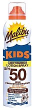 Düfte, Parfümerie und Kosmetik Wasserdichtes Sonnenschutzspray für Kinder SPF 50 - Malibu Sun Kids Continuous Lotion Spray SPF50