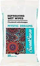 Düfte, Parfümerie und Kosmetik Erfrischende Feuchttücher 15 St. - Sweet Sense Mystic Dreams Wipes