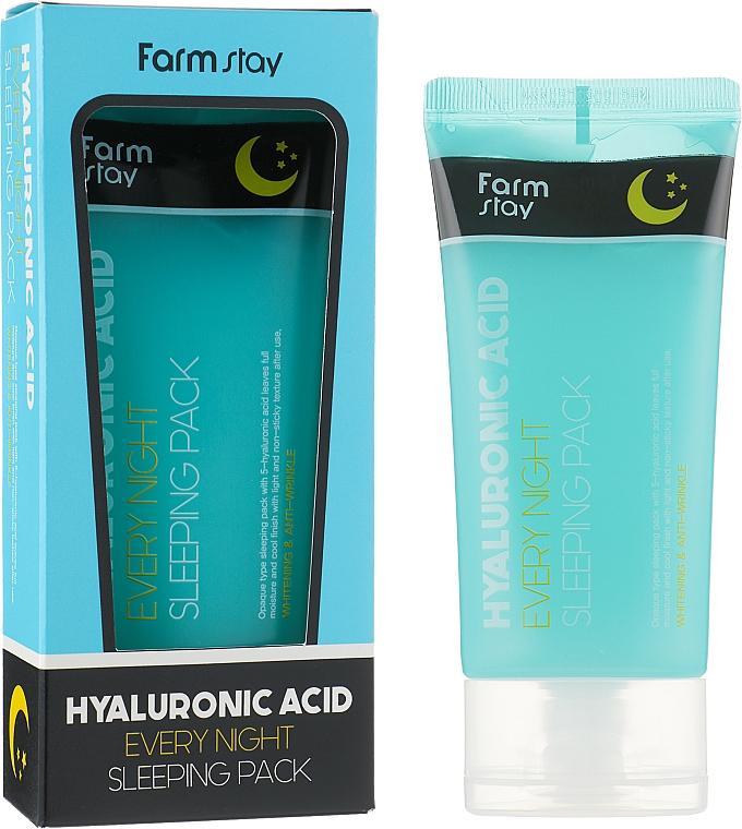 Nachtmaske für das Gesicht mit Hyaluronsäure - FarmStay Hyaluronic Acid Every Night Sleeping Pack — Bild N2