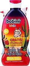 Düfte, Parfümerie und Kosmetik Pflegeset für Kinder - Bobini Kids Set (2in1 Shampoo und Duschgel 330ml + Feuchttücher 15St.)