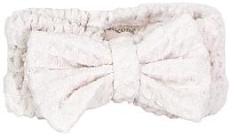 Düfte, Parfümerie und Kosmetik Kosmetisches Haarband aus Mikrofaser weiß - Nacomi