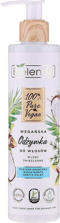 Vegane Haarspülung für strapaziertes Haar - Bielenda 100% Pure Vegan — Bild N1