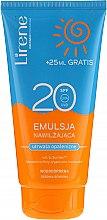 Düfte, Parfümerie und Kosmetik Wasserfeste feuchtigkeitsspendende Bräunungsemulsion SPF 20 - Lirene Sun Care Emulsion SPF20