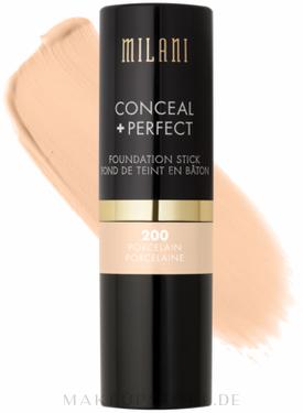 Concealer & Foundation Stick - Milani Conceal + Perfect Foundation Stick — Bild 200 - Porcelain