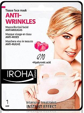 Anti-Falten Tuchmaske mit Hyaluronsäure - Iroha Nature Anti-Wrinkles Q10 Tissue Face Mask — Bild N1