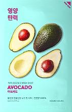 Düfte, Parfümerie und Kosmetik Gesichtspflegemaske mit Avocadoextrakt - Holika Holika Pure Essence Mask Sheet Avocado